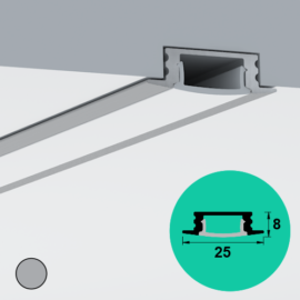 LED Profile – Recessed | Medium | Shallow
