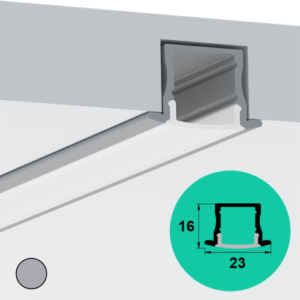 LED Profile – Recessed | Medium | Deep