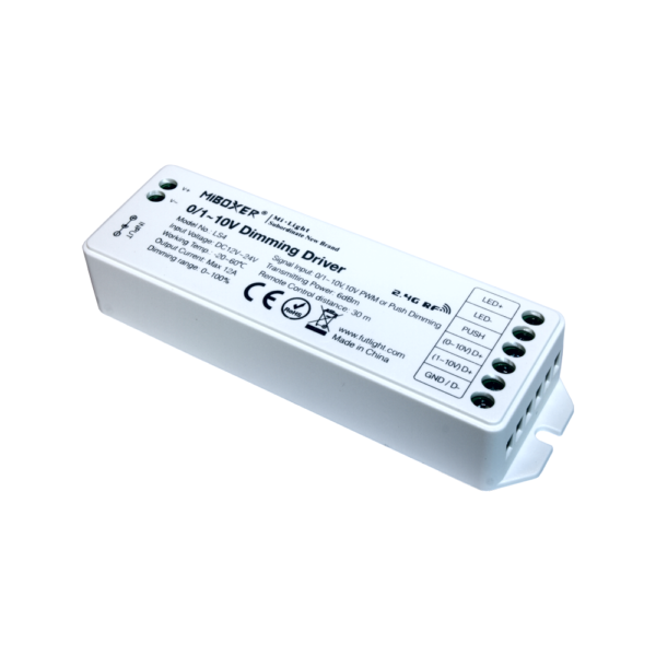 LED Dimmer Receiver 0/1~10V, Push & Remote