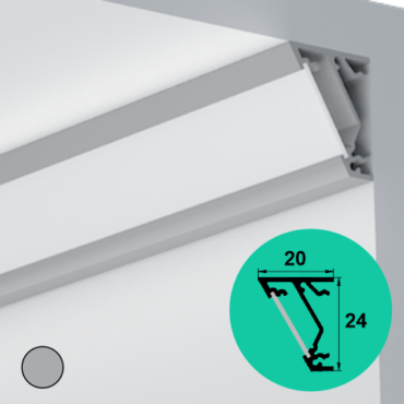LED Profile – Corner | Flat