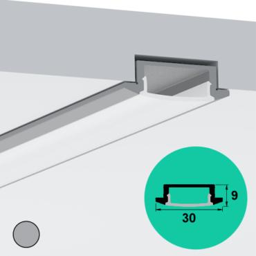LED Profile – Recessed | Large | Shallow
