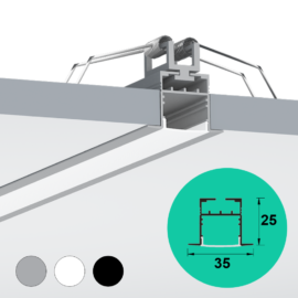 Recessed Ceiling LED Profile